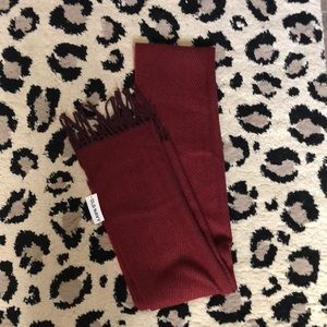 Keep Toasty with this Burgundy Scarf!